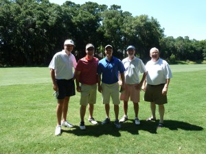 2015 2nd Place Team:  Jonathan Jenkins, Cameron Williams, Dan Peeples, Steven Smith with Dick Ivey, GFDA president.